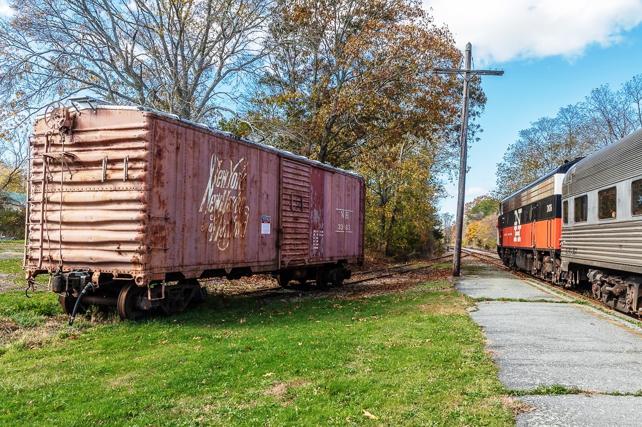 1943 NYNH&H Boxcar - Owned by Cape Cod Chapter, NRHS. Photo by Doug Scott