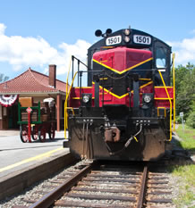Barnstable Station train